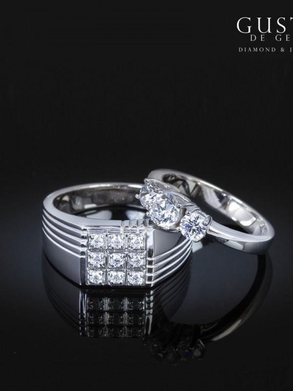 แหวนเพชรเรียง 3 เม็ด